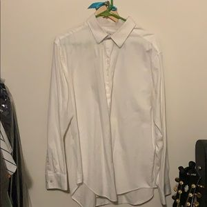 Slim fit White button down shirt